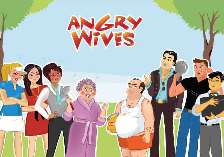 Angry Wives Character Design & Illustration